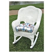 International Caravan Chelsea Outdoor Wicker Resin Patio Rocking Chair; White