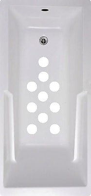 No Slip Mat by Versatraction Cirlces Bath Tub and Shower Treads (Set of 10); White