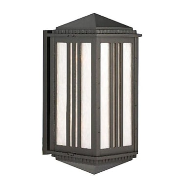 Melissa Parisian Elegance 2-Light Outdoor Flush Mount; Aged Silver