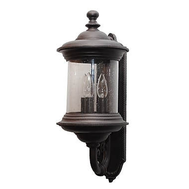 Melissa Tuscany 3-Light Outdoor Sconce; Old Bronze