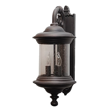 Melissa Tuscany 3-Light Outdoor Wall lantern; Aged Silver