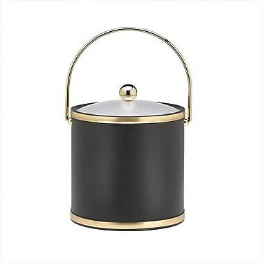 Kraftware Sophisticates Ice Bucket w/ Acrylic Cover in Black