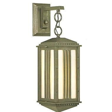 Melissa Parisian Elegance 1-Light Outdoor Wall Lantern; Rusty Nail