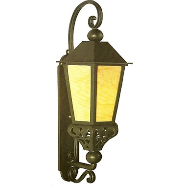 Melissa Tuscany 1-Light Outdoor Wall Lantern; Aged Silver