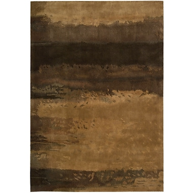 Calvin Klein Rugs Luster Wash Hand Woven Wool Amber Wash Copper Area Rug; Rectangle 5'6'' x 8'