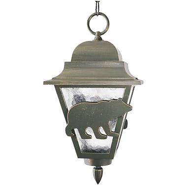 Melissa Americana 1-Light Outdoor Hanging Lantern; Old Iron
