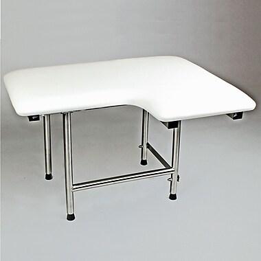 CSI Bathware Left Hand Padded Shower Seat; 32'' x 21''