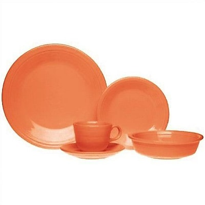 Fiesta 5 Piece Place Setting, Service for 1; Tangerine