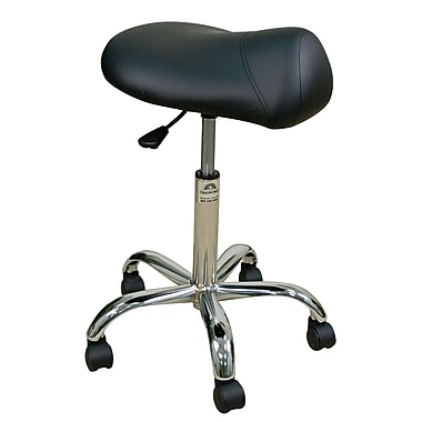 Oakworks Height Adjustable Professional Saddle Stool; Espresso