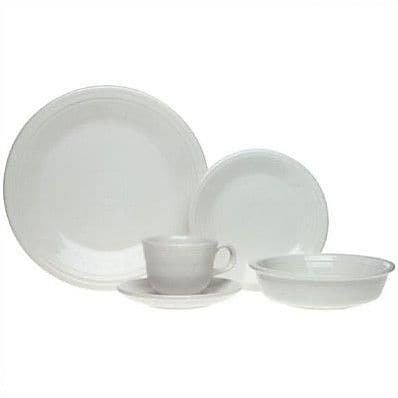 Fiesta 5 Piece Place Setting, Service for 1; White