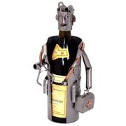 H & K SCULPTURES Male Doctor 1 Bottle Tabletop Wine Rack
