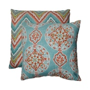 Pillow Perfect Mirage and Chevron Throw Pillow (Set of 2); 18'' W x 18'' D