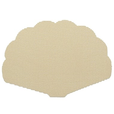 Kraftware Fishnet Shell Placemat (Set of 12); Ivory