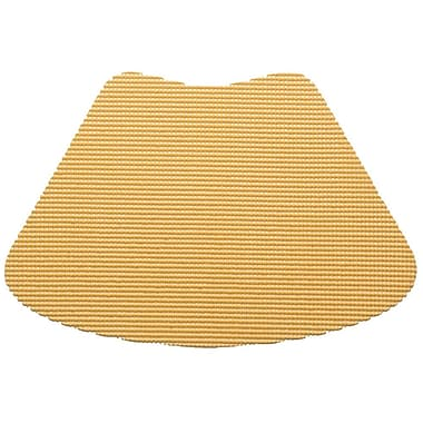 Kraftware Fishnet Wedge Placemat (Set of 12); Camel