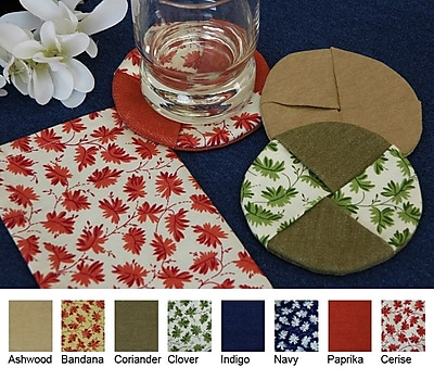 Pacific Table Linens Denim Wine Glass Coaster w/ Cercie (Set of 2); Coriander