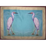 Betsy Drake Interiors Snowy Egret Placemat (Set of 4)