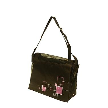 Hagen Dogit Messenger Bag Dog Carrier; Argyle Black