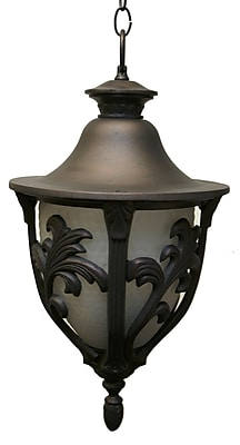 Melissa Tuscany 3-Light Outdoor Hanging Lantern; White