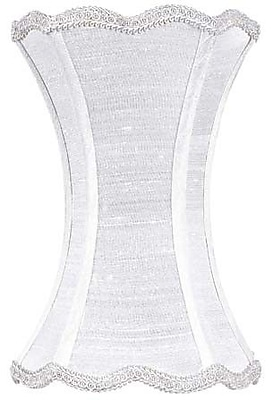 Jubilee Collection 7.25'' Silk Novelty Lamp Shade; White