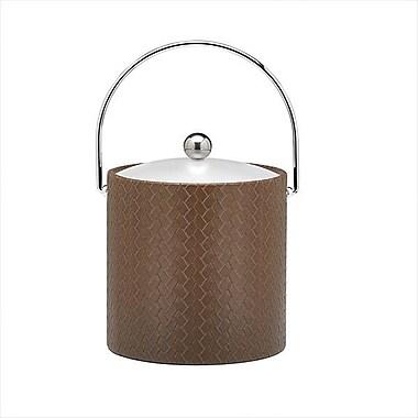 Kraftware San Remo Pinecone Design 3 Qt. Ice Bucket w/ Lucite Cover