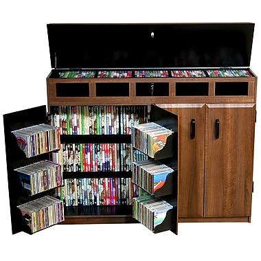 Venture Horizon VHZ Entertainment Top Load Multimedia Cabinet; Dark Walnut