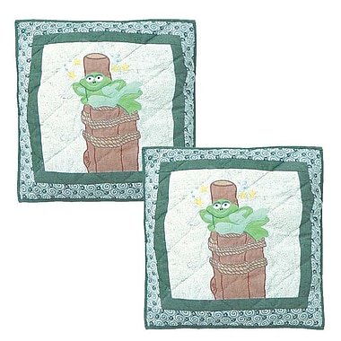Patch Magic Hoppy Days Cotton Throw Pillow (Set of 2)