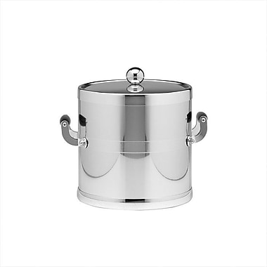 Kraftware Americano 3 Qt Ice Bucket w/ Metal Cover in Chrome