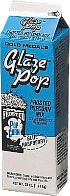 Snappy Popcorn 28 oz Gold Medal Glaze Pop; Blue Raspberry