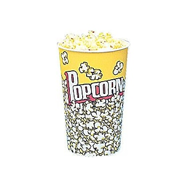 Snappy Popcorn Yellow Popcorn Cups (Set of 25); 46 Oz (50 Count)