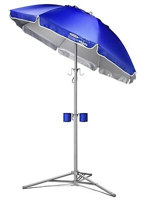 Maranda Enterprises 5' Ultimate Wondershade Beach Umbrella; Royal Blue WYF078275526136