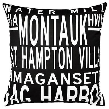 Uptown Artworks Hamptons 5 Line Throw Pillow
