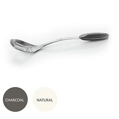 Natural Home Moboo Slotted Spoon; Charcoal