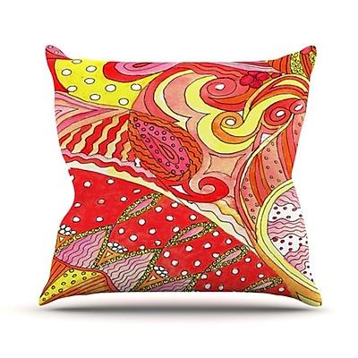 KESS InHouse Swirls Throw Pillow; 18'' H x 18'' W