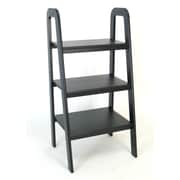 Wayborn 44'' Leaning Bookcase; Black