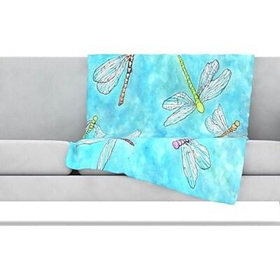 KESS InHouse Dragonfly Fleece Throw Blanket; 40'' L x 30'' W