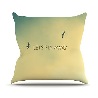 KESS InHouse Let's Fly Away Throw Pillow; 18'' H x 18'' W