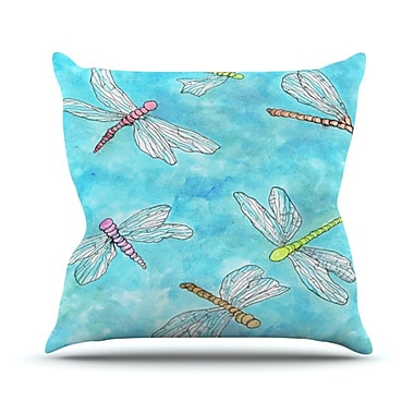 KESS InHouse Dragonfly Throw Pillow; 18'' H x 18'' W