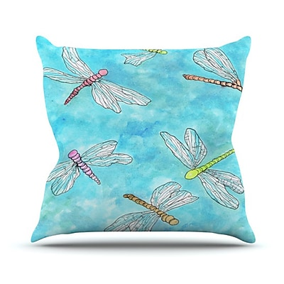 KESS InHouse Dragonfly Throw Pillow; 26'' H x 26'' W