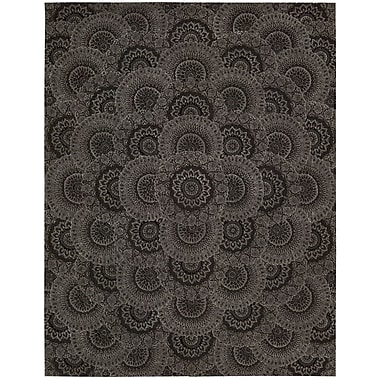 Nourison 2000 Hand-Tufted Black/Gray Area Rug; 7'9'' x 9'9''