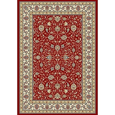 Dynamic Rugs Ancient Garden Red/Ivory Area Rug; 7'10'' x 11'2''