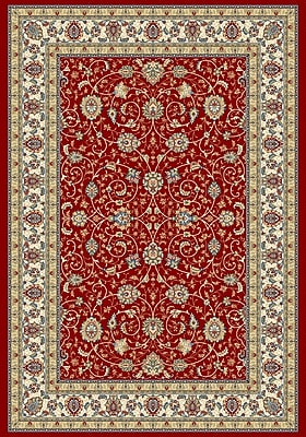 Dynamic Rugs Ancient Garden Red/Ivory Area Rug; Rectangle 5'3'' x 7'7''