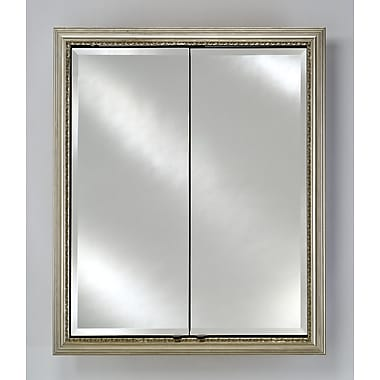 Afina Signature 31'' x 36'' Recessed Medicine Cabinet; Parisian Antique Silver