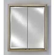 Afina Signature 24'' x 30'' Recessed Medicine Cabinet; Parisian Antique Silver