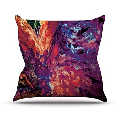 KESS InHouse Passion Flowers II Throw Pillow; 18'' H x 18'' W