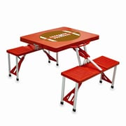 Picnic Time Picnic Table Sport; Red with Football