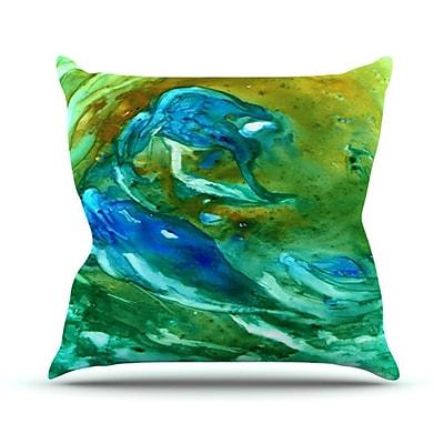 KESS InHouse Hurricane Throw Pillow; 18'' H x 18'' W