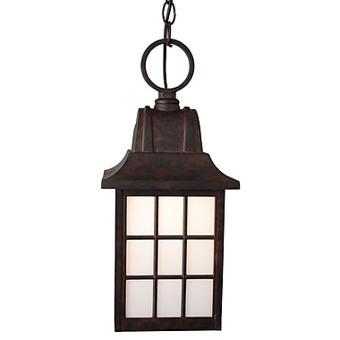 Melissa Kiss Series 1-Light Outdoor Hanging Lantern; Aged Silver