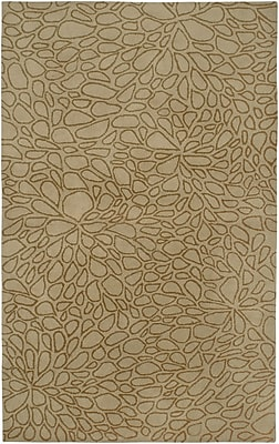 Rizzy Rugs Anna Redmond Hand-Tifted wool Light Gold Area Rug; Rectangle 9' x 12'