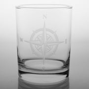 Rolf Glass Compass Rose Double Old Fashioned Glass (Set of 4)