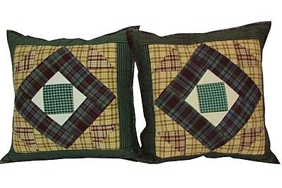 Patch Magic Square Diamond Cotton Throw Pillow (Set of 2)